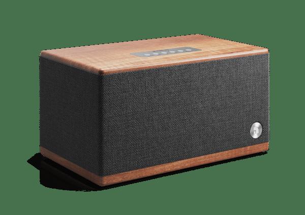 wireless bluetooth speaker BT5 walnut front angle AudioPro e1599665711904
