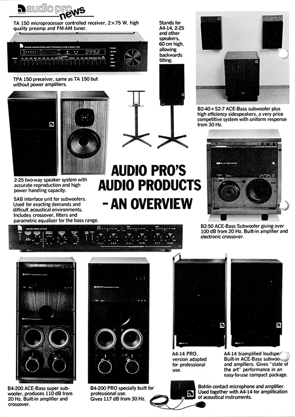 Audio Pro newsletter