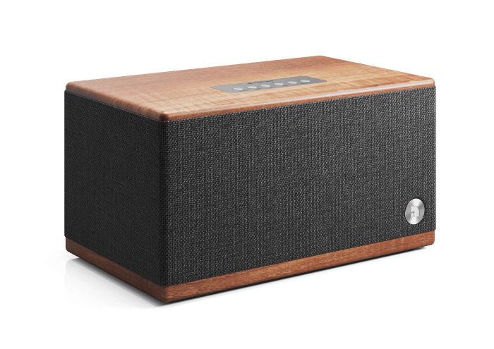 wireless-bluetooth-speaker-BT5-walnut-front-angle-AudioPro