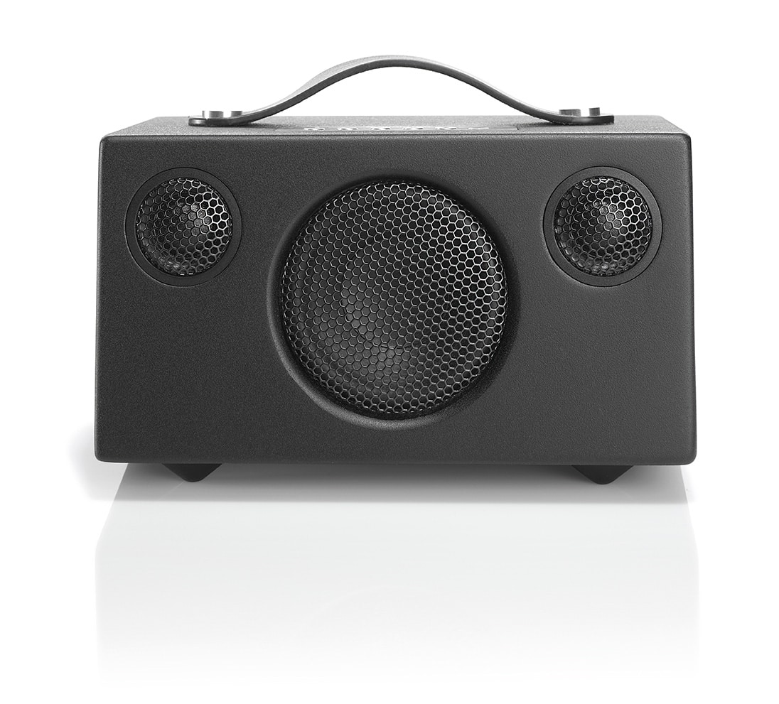 wireless-bluetooth-speaker-T3+-BLACK-FRONT-AudioPro
