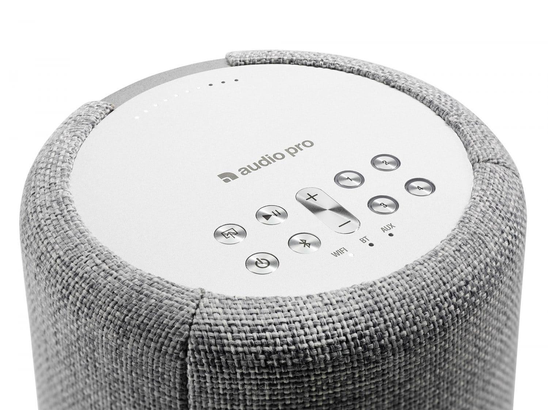 wireless multiroom speaker A10 lightgray detail works with alexa AudioPro e1603415138978