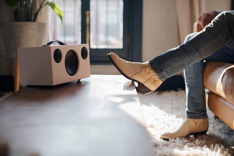 wireless multiroom speaker C10 white AudioPro 01 e1603415284470