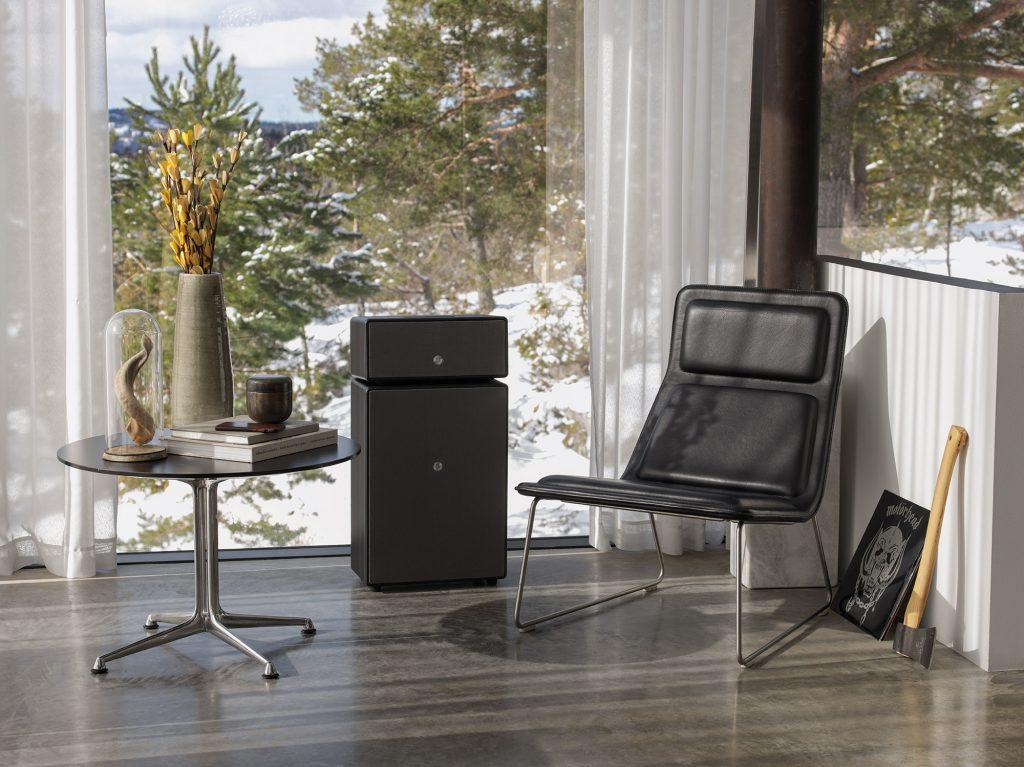 wireless multiroom speaker Drumfire black works with alexa AudioPro03