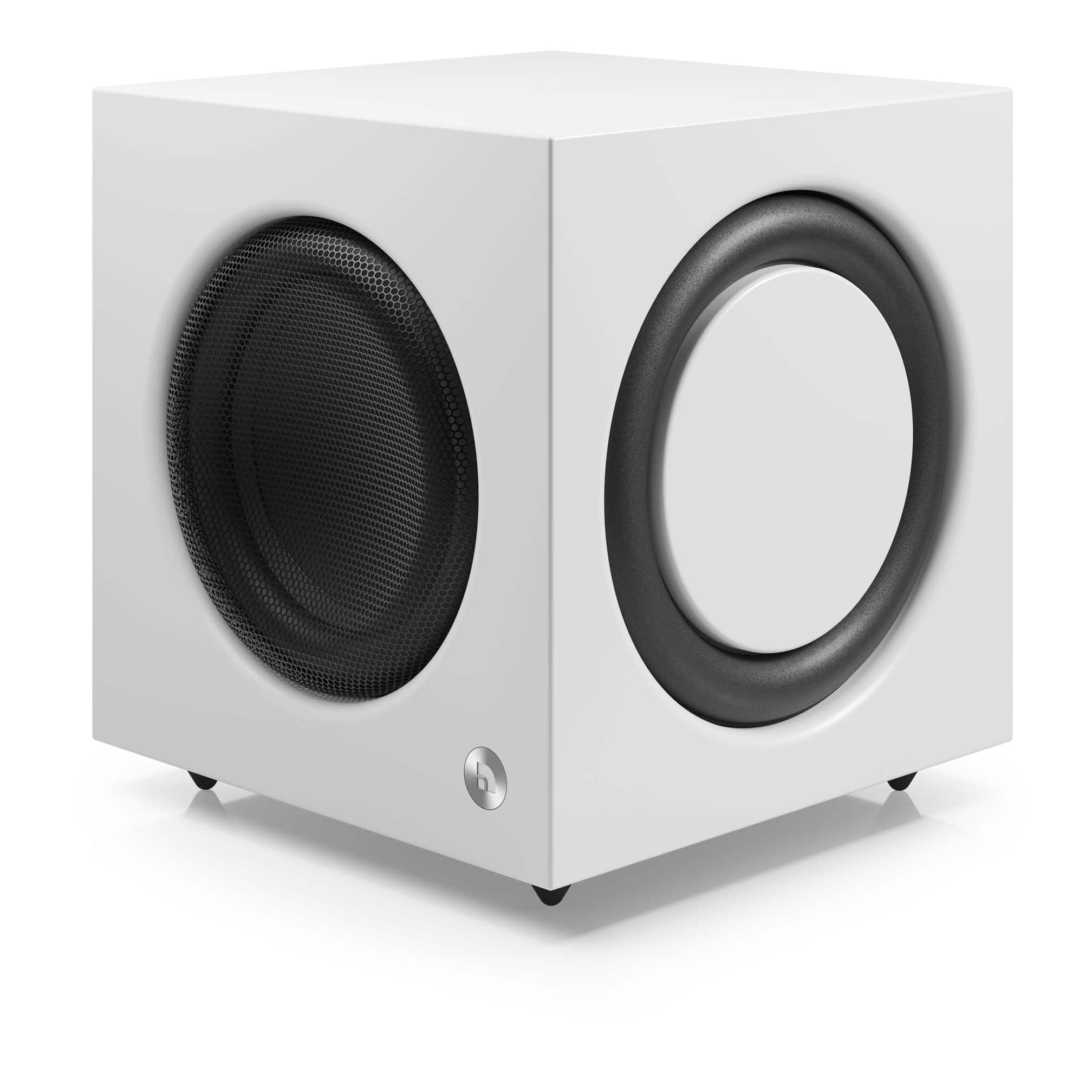Active subwoofer SW 10 white angle1 AudioPro