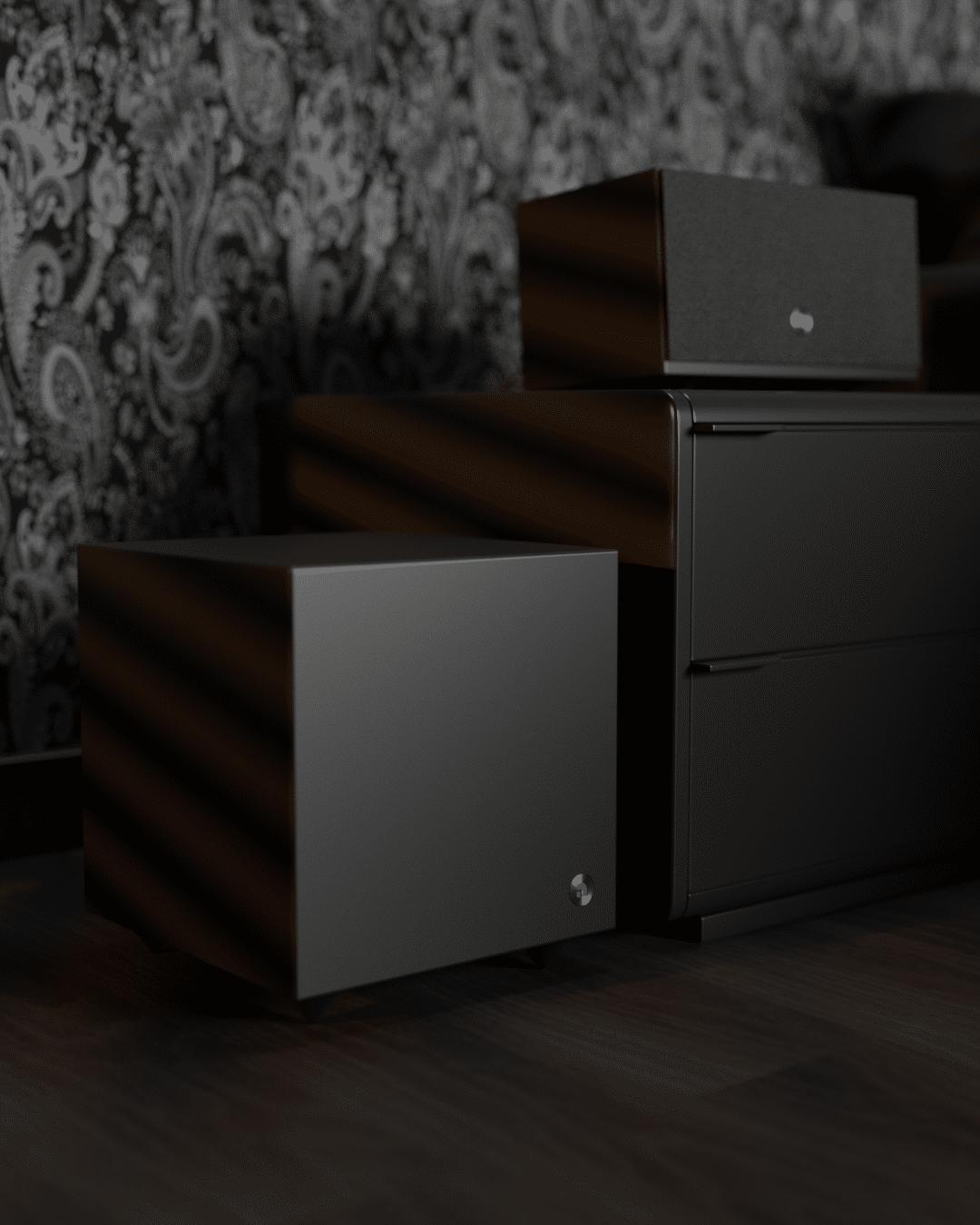 Active subwoofer SW 5wireless multiroom speaker C10MkII black SoMe AudioPro 01